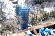 宮の入橋下部工事 施工中